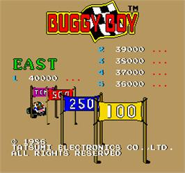 High Score Screen for Buggy Boy Junior/Speed Buggy.