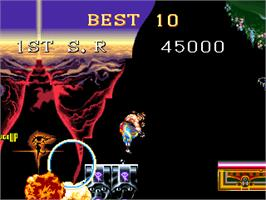 High Score Screen for Cannon Dancer.
