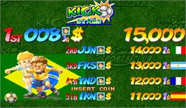 High Score Screen for Capcom Sports Club.