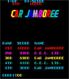 High Score Screen for Car Jamboree.