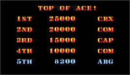 High Score Screen for Carrier Air Wing.