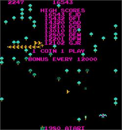 High Score Screen for Centipede Dux.