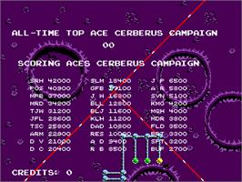 High Score Screen for Cerberus.