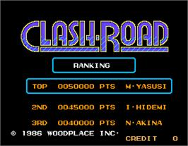 High Score Screen for Clash-Road.