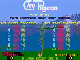 High Score Screen for Clay Pigeon.