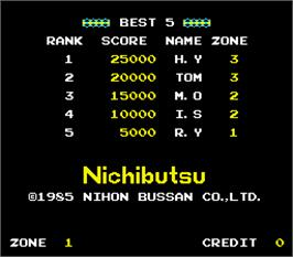 High Score Screen for Cop 01.