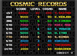 High Score Screen for Cosmo Gang the Puzzle.