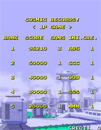 High Score Screen for Cosmo Gang the Video.