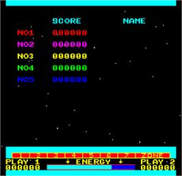 High Score Screen for Cosmos.