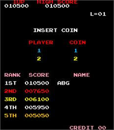 High Score Screen for Crazy Kong Part II.