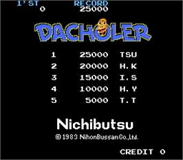 High Score Screen for Dacholer.
