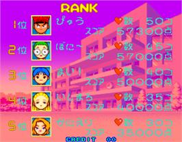High Score Screen for Daisu-Kiss.
