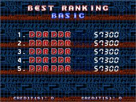 High Score Screen for Dance Dance Revolution Best of Cool Dancers.