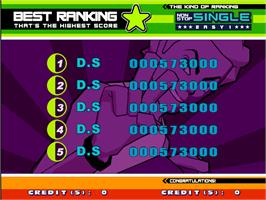 High Score Screen for Dancing Stage Euro Mix 2.