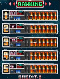 High Score Screen for Dangun Feveron.