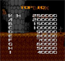 High Score Screen for Dark Tower.