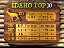 High Score Screen for Deer Hunting USA V2.