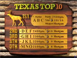 High Score Screen for Deer Hunting USA V4.2.