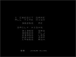 High Score Screen for Delta Race.