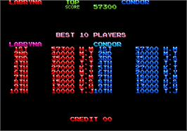 High Score Screen for Devil World.
