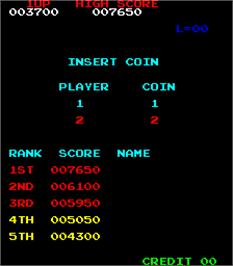 High Score Screen for Donkey Kong.