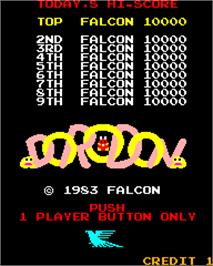 High Score Screen for Dorodon.