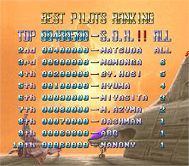 High Score Screen for E.D.F. : Earth Defense Force.
