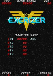 High Score Screen for Exerizer.