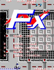 High Score Screen for F-X.