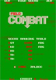 High Score Screen for Field Combat.