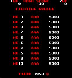 High Score Screen for Fighting Roller.
