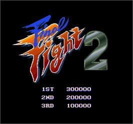 High Score Screen for Final Fight 2.