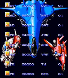 High Score Screen for Final Star Force.