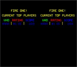 High Score Screen for Fire One.
