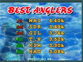 High Score Screen for Fisherman's Bait 2 - A Bass Challenge.