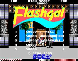 High Score Screen for Flashgal.