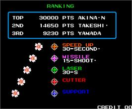 High Score Screen for Flower.