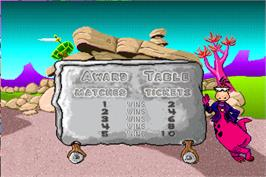 High Score Screen for Fred Flintstones' Memory Match.