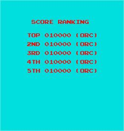 High Score Screen for Funky Bee.