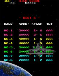High Score Screen for Galaga '88.