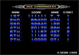 High Score Screen for Galaxy Force 2.