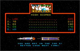 High Score Screen for Galaxy Games StarPak 2.