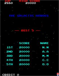 High Score Screen for Gallag.