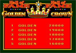 High Score Screen for Golden Crown.