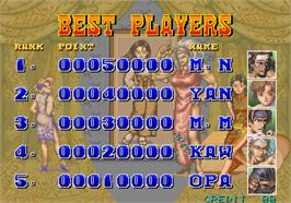 High Score Screen for Gouketsuji Ichizoku.