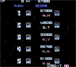High Score Screen for Gradius.