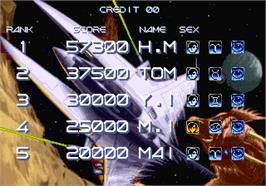 High Score Screen for Gradius III.