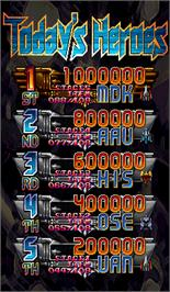 High Score Screen for Great Mahou Daisakusen.