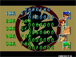 High Score Screen for Gyakuten!! Puzzle Bancho.