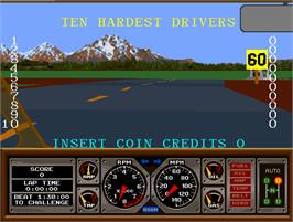 High Score Screen for Hard Drivin'.